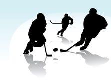De Spelers van het ijshockey vector illustratie