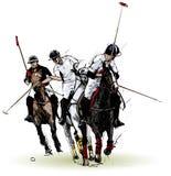 De spelers van het polo royalty-vrije illustratie