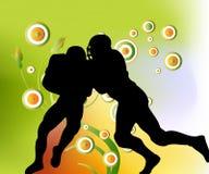De Spelers van het rugby Stock Afbeeldingen