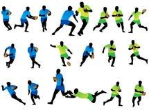 De spelers van het rugby stock illustratie