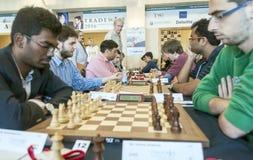 De spelers van het schaak Stock Afbeelding