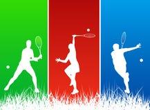 De spelers van het tennis Stock Fotografie