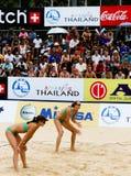 De spelers van het volleyball Royalty-vrije Stock Afbeeldingen