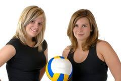 De Spelers van het volleyball stock foto's