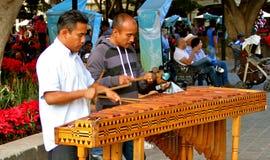 De Spelers van Marimba Stock Foto