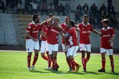 De spelers van Perugia Stock Foto