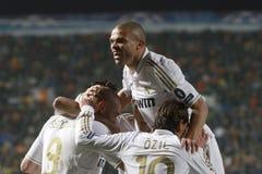 De spelers van Real Madrid Stock Afbeelding