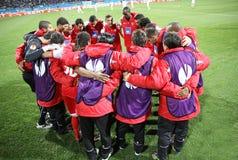 De spelers van Sc Braga stock afbeelding