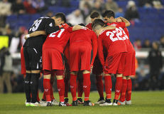 De spelers van Sevilla FC Stock Afbeelding