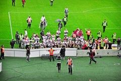 De spelers van Turijn FC juicht toe royalty-vrije stock foto's
