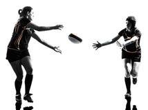 De spelerssilhouet van rugbyvrouwen Royalty-vrije Stock Fotografie