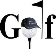 De spelerssilhouetten van het golf Stock Foto
