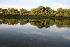 De spiegel van water. Stock Foto's
