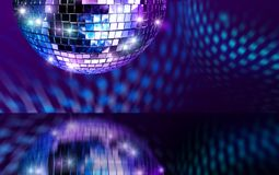De spiegelbal van de disco Stock Foto
