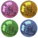 De spiegelbal van de disco Stock Foto's