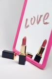De spiegelverf van de liefde Stock Foto's