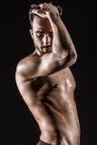 De Spier Jonge Sexy Naakte Leuke Man Royalty-vrije Stock Fotografie