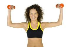 De spieren van de vrouw Stock Afbeelding