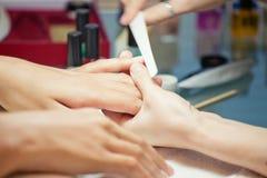 De spijkers van de manicure Royalty-vrije Stock Foto's