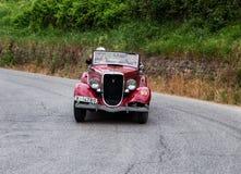 De Spin Carrozzeria Ambrosini & Botta 1933 van FORD B 8V Stock Foto's