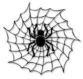 De spin van Halloween op het net royalty-vrije illustratie