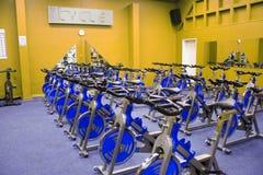 De spinnende fiets van de geschiktheid Royalty-vrije Stock Afbeelding