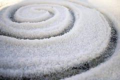 De spiraal van Crystalised stock foto