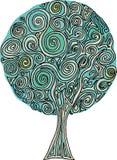 De spiraal van de boom Stock Afbeelding
