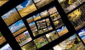 De spiraal van de oneindigheid van de herfstfoto's Royalty-vrije Stock Afbeeldingen