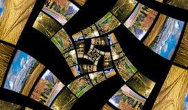 De spiraal van de oneindigheid van de herfstfoto's Royalty-vrije Stock Fotografie
