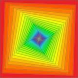 De spiraal van de regenboog royalty-vrije illustratie