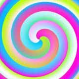 De spiraal van het neon Stock Foto's