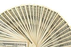 De spiraal van honderd dollarsrekeningen stock foto