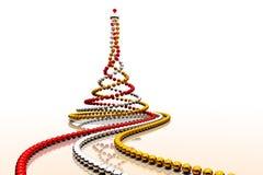 De spiraal van Kerstmisparels Royalty-vrije Stock Afbeeldingen