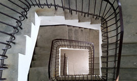 De spiraal van Nice van oude trap royalty-vrije stock fotografie