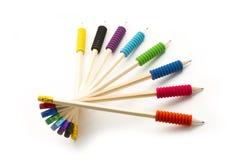De spiraal van potloden stock foto's