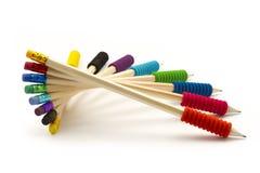 De spiraal van potloden royalty-vrije stock afbeeldingen