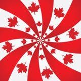 De spiraalvormige achtergrond van Canada stock illustratie