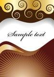 De spiraalvormige achtergrond van de chocolade Stock Afbeeldingen