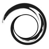 De Spiraalvormige Cirkel met de wijzers van de klok mee van de Werveling vector illustratie
