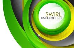 De spiraalvormige 3d vector abstracte achtergrond van wervelings stromende lijnen Royalty-vrije Stock Foto