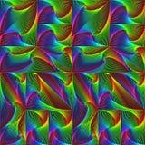 De spiraalvormige driehoeken, vierkanten, kubussen worden gemaakt omhoog in een patroon, achtergrond, textuur Royalty-vrije Stock Afbeeldingen