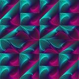 De spiraalvormige driehoeken, vierkanten, kubussen worden gemaakt omhoog in een patroon, achtergrond, textuur Stock Afbeelding
