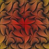 De spiraalvormige driehoeken, vierkanten, kubussen worden gemaakt omhoog in een patroon, achtergrond, textuur Stock Afbeeldingen