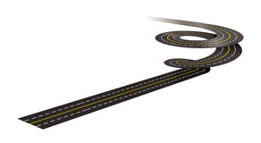 De spiraalvormige illustratie van het wegconcept Stock Afbeeldingen