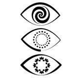 De spiraalvormige iris van het oogpictogram Stock Afbeelding