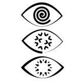 De spiraalvormige iris van het oogpictogram Stock Foto's