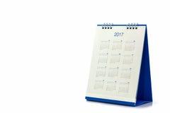 De spiraalvormige kalender 2017 van het Witboekbureau Royalty-vrije Stock Foto's