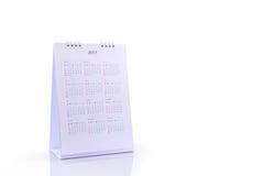 De spiraalvormige kalender 2017 van het Witboekbureau Royalty-vrije Stock Afbeeldingen