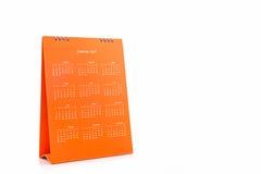 De spiraalvormige kalender 2017 van het Witboekbureau Stock Afbeelding